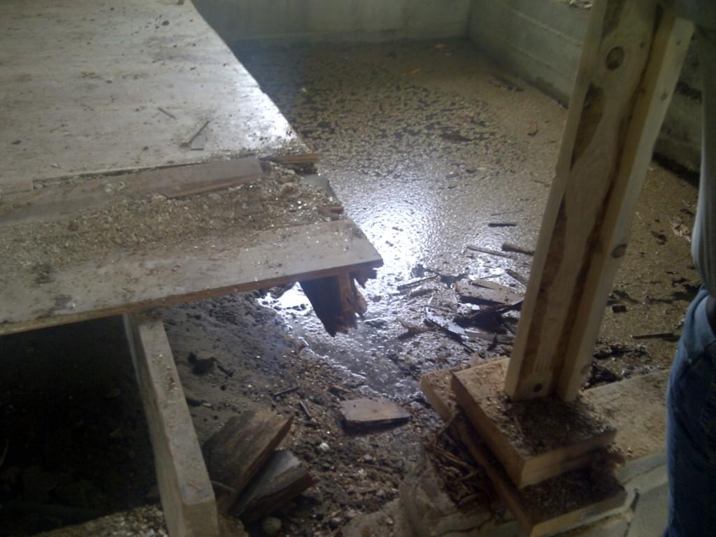 Littleton Rehab Chronicles - Pool of Water Rotten Joists