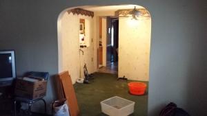 Before: Gorham Street dining room/kitchen